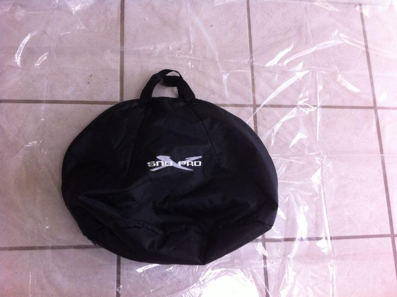Snowmobile Helmet Bag, Black, Plush Lined (Wasaga Beach)