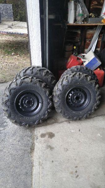 4 Brand new Honda utv tires and rims