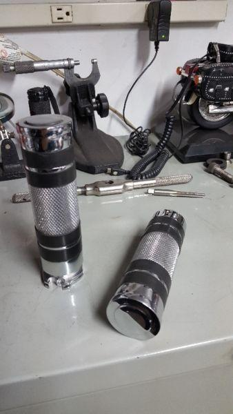 Chrome hand grips for 1-inch bars