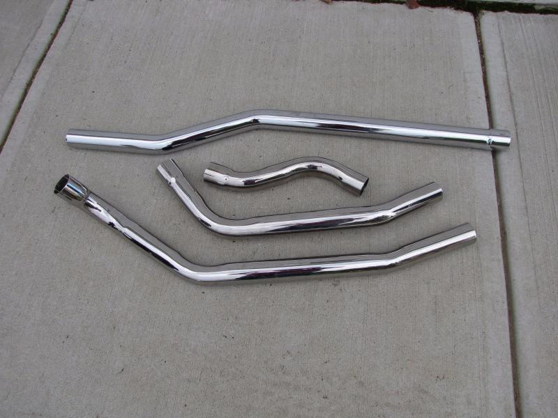 Chrome exhaust, various lengths
