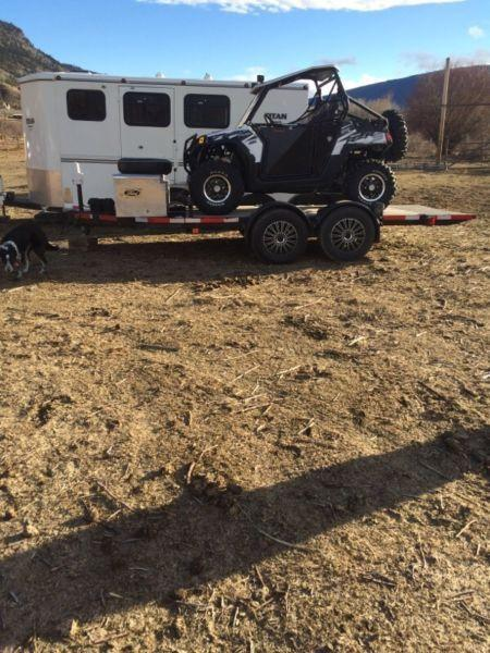 Custom Tilt Flat Deck Atv Trailer