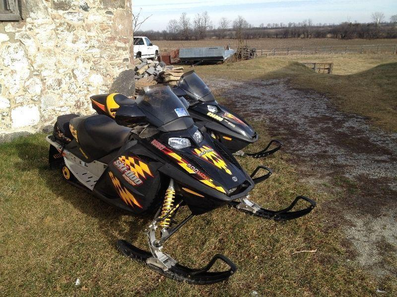 TWO SKI DOO PACKAGE DEAL WITH TRAILER $8000