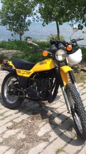 Vintage Yamaha DT Enduro motorcycles