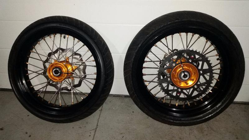 KTM Supermoto complete wheelset