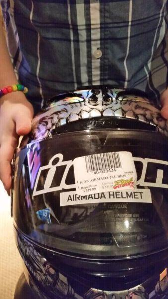 Brand new icon motorcycle helmet