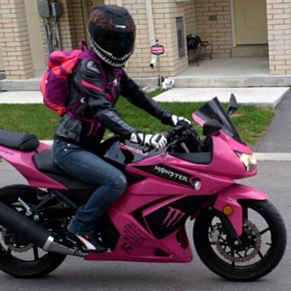 Ninja Pink Bike Brick7 Motorcycle