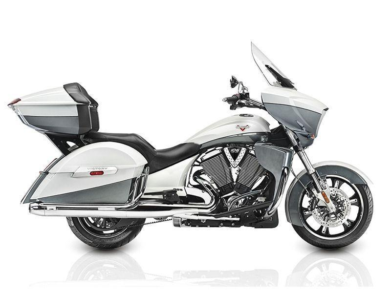 2015 Victory Cross Country Tour Two-Tone White Pearl and Gray
