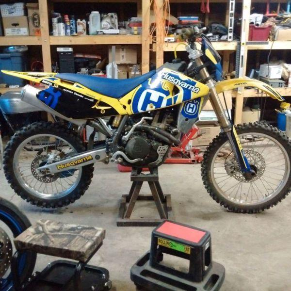 2004 huskavarna tc450 trade swap or asking 2800