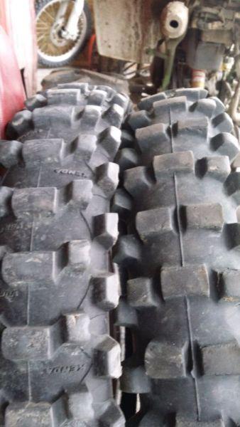 2 dirt bike tires