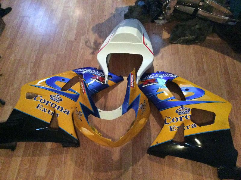 2000/2001 GSXR 600/750 Complete Fairing Kit