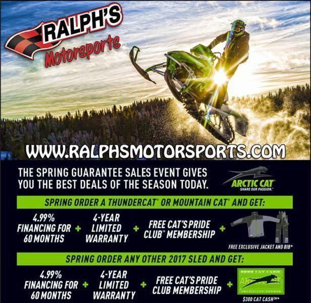 PreOrder Your 2017 Arctic Cat Snowmobile w/ Ralph's For Savings!