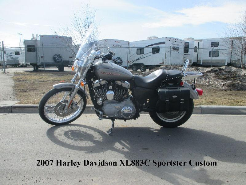 2007 Harley Davidson XL883C Sportster Custom (1200 big bore kit)