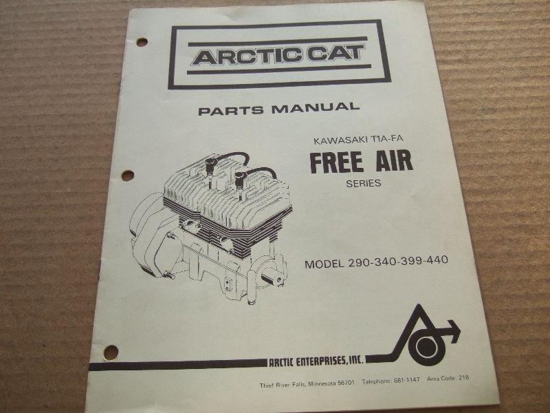ARCTIC CAT FREE AIR 290-340-399-440 PARTS MANUAL