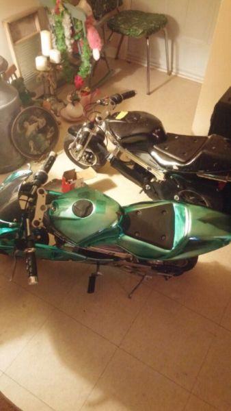 ****Two 49cc Pocket Bikes $250 firm****