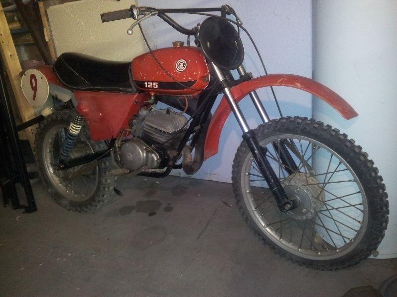 1978 CZ MOTOR-CROSS RACER 125 cc