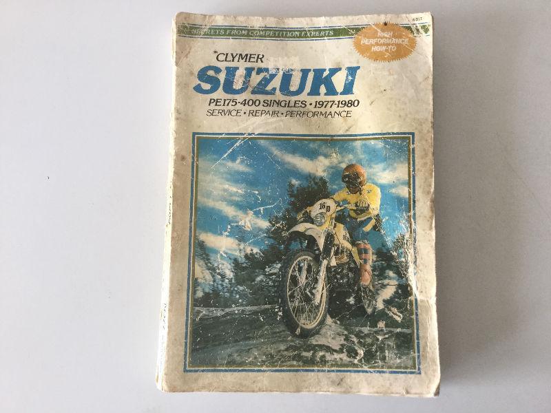 1977-1980 Suzuki PE175-400 Singles Shop Manual PE250C PE400T