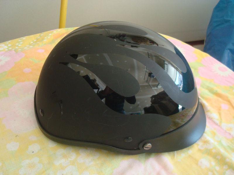 Motor Cycle Helmet DOT (Black) German Style. Like new