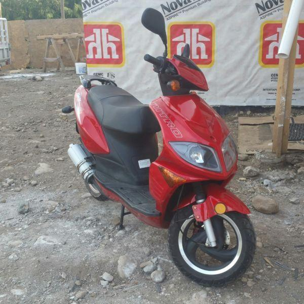 Gas scooter for sale (amazing on gas and low mileage)