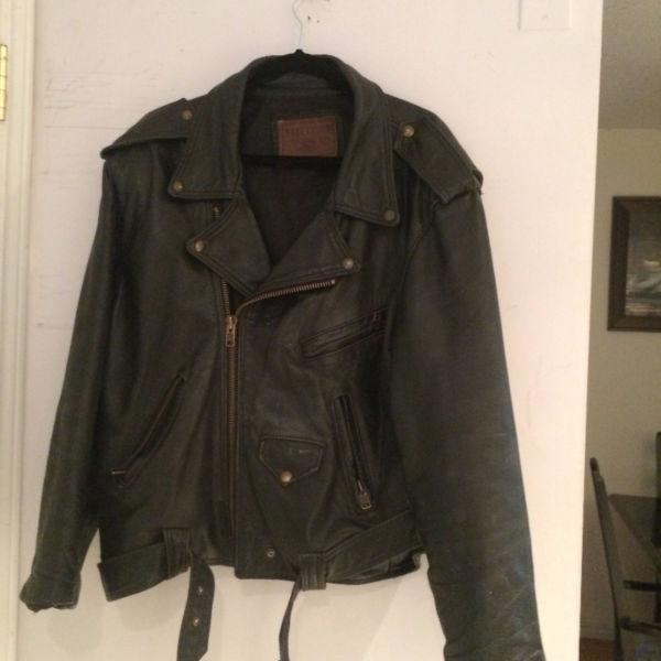 Old school leather jacket
