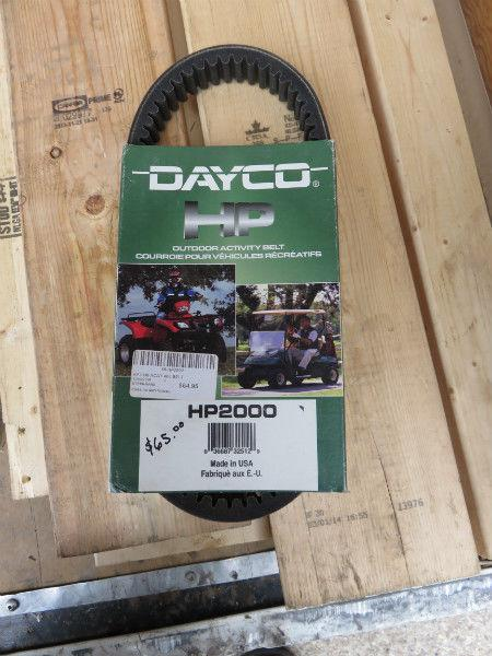 New Dayco HP2000 Artic Cat ATV belt $60 check ad for fitment