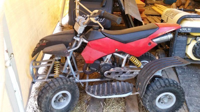 50cc quad runs perfect