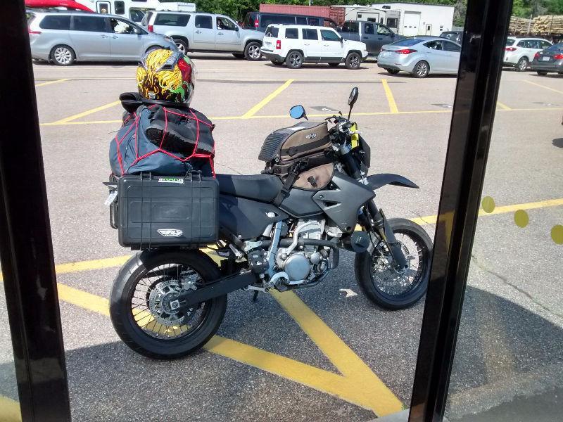 DRZ 400 motorcycle luggage rack