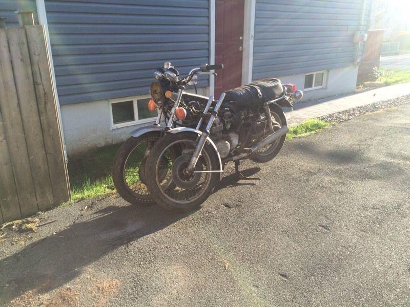 1977 CB550 parts bike plus other stuff