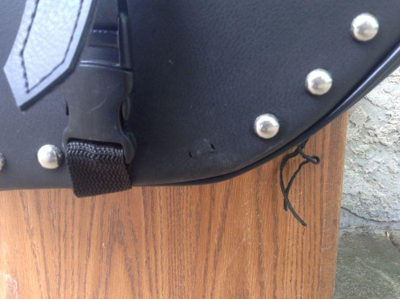 Old School Leather Saddlebags