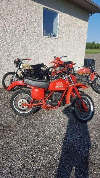 4 Can Am motorcycles