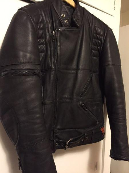 Hein Gericke/ Harley Davidson Cafe Motorcycle Leather Jacket