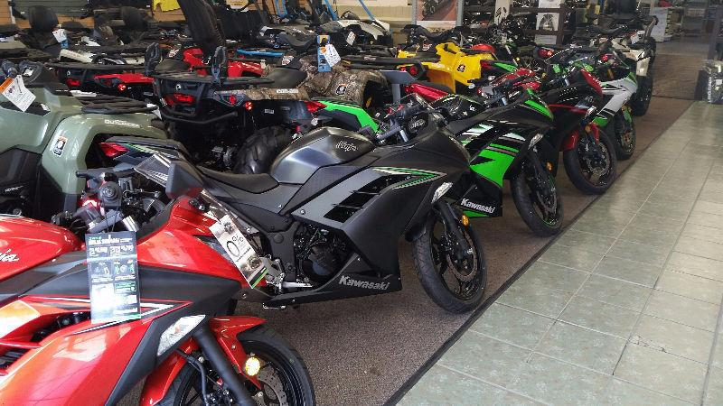 000% RATES ON KAWASKI NINJA AND TOURING 300 650 800 636 IN STOCK