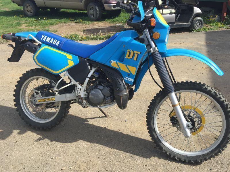 1990 Yamaha DT200 dual sport 1100km great shape