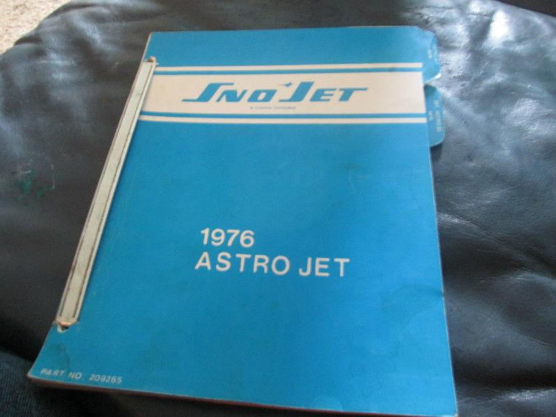 1976 sno jet astro jet ski doo parts list with diagrams