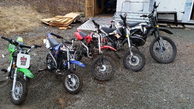 !!! Fun for the Whole Family, 5 Dirt Bikes, Package Deal !!!