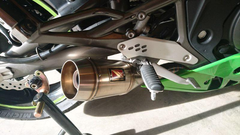 Comp werkes exhaust 2006-2011 Kawasaki Ninja 650r er6n