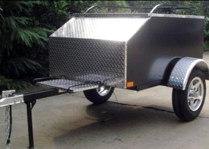 Marlon AMT XXL Aluminum Motorcycle Pull Behind Trailer