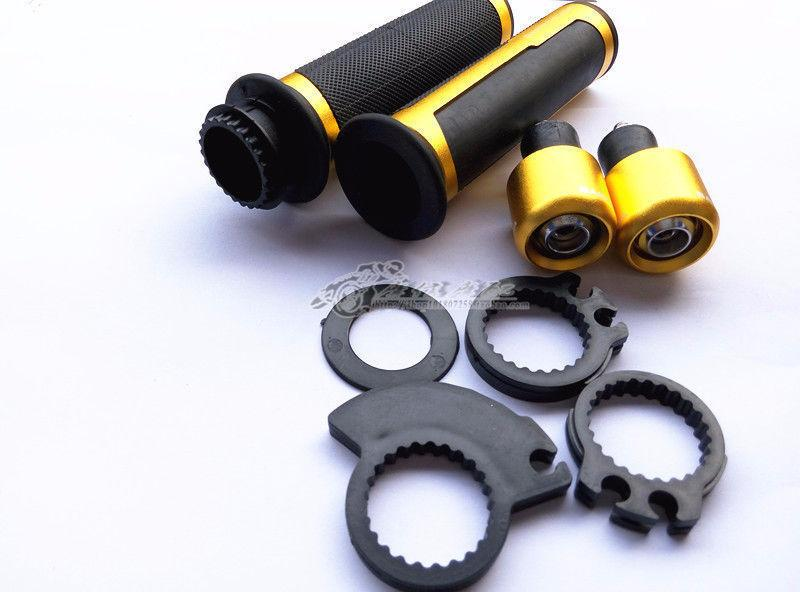 Motorcycle Handle bar BARRACUDA 7/8' Grips CNC Gold or Black