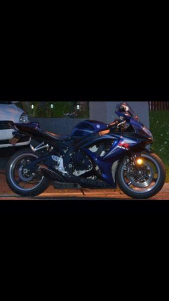 2007 GSXR 750 in excellent shape