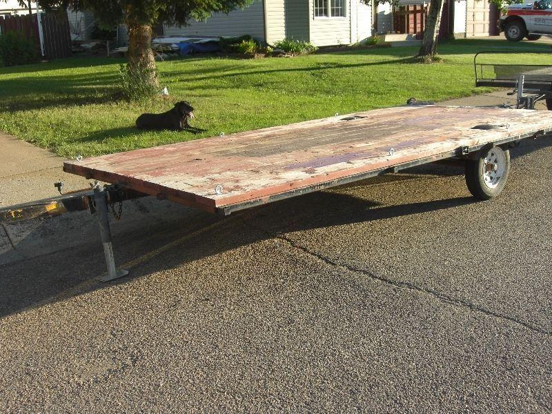 GOOD 7 FT X 13 FT ATV FLATBED TILT DECK TRAILER