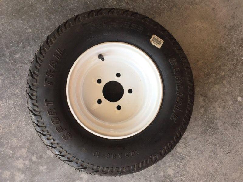 Trailer spare tire 20.5x8x10