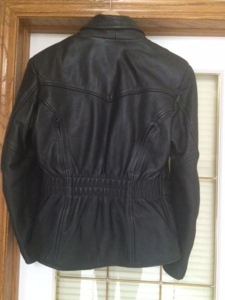 Motorcycle Leather Jacket Womens