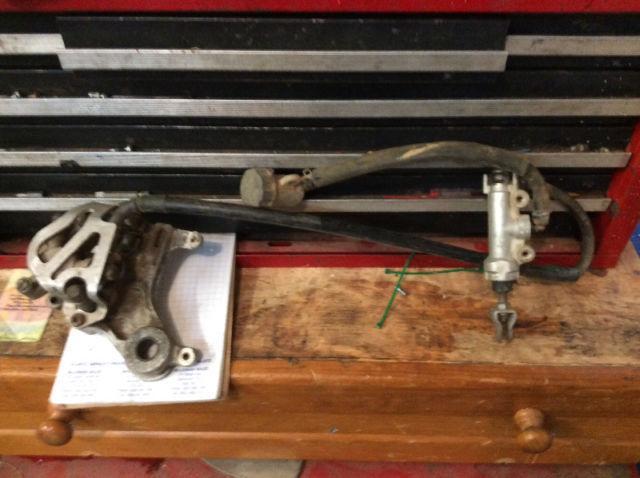 CR 125, 250, 500 rear break assembly for sale!
