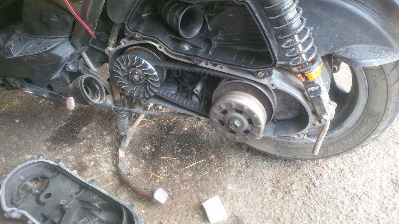 Yamaha BWS 155 big bore + NEW aftermarket parts