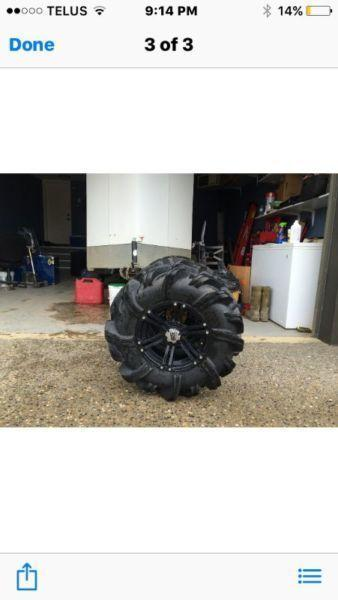 Rim and Tires for a Artic cat