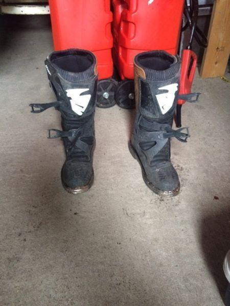Dirt bike motocross boots