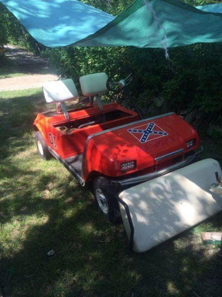 Custom 1987 club car golf cart engine swaped