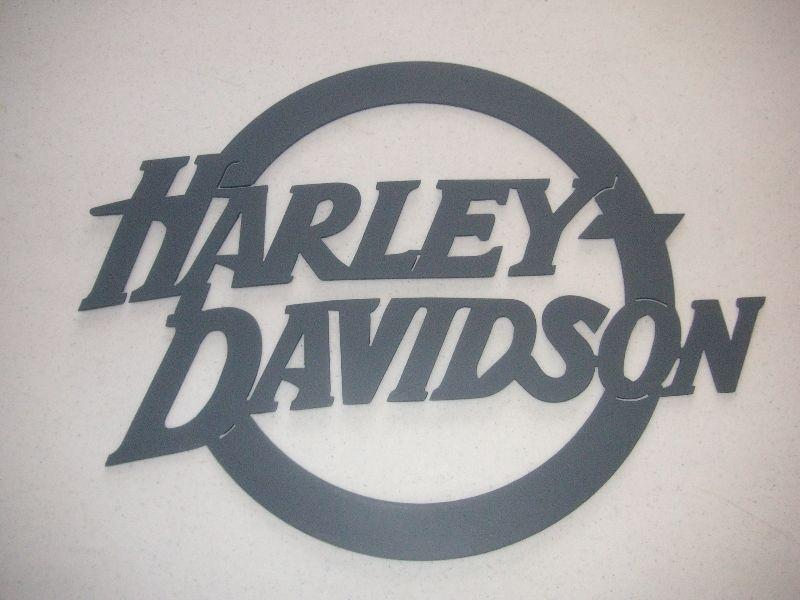 HAND MADE METAL HARLEY SIGNS