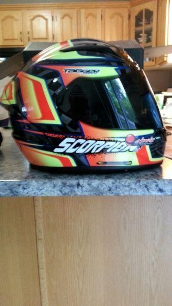 Brand new XL Scorpion EXO-R2000 Tagger Ensenada Race helmet