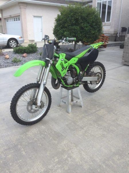 Kawasaki 125cc dirt bike