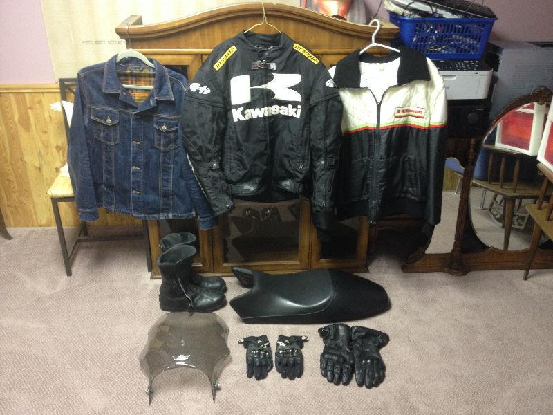 Motorcycle Gear & Parts, Jacket, Gloves, Boots, Ducati Seat, Etc